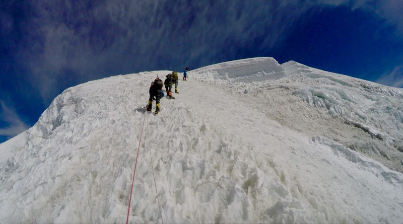 Nearing the false summit now. (GoPro screenshot)
