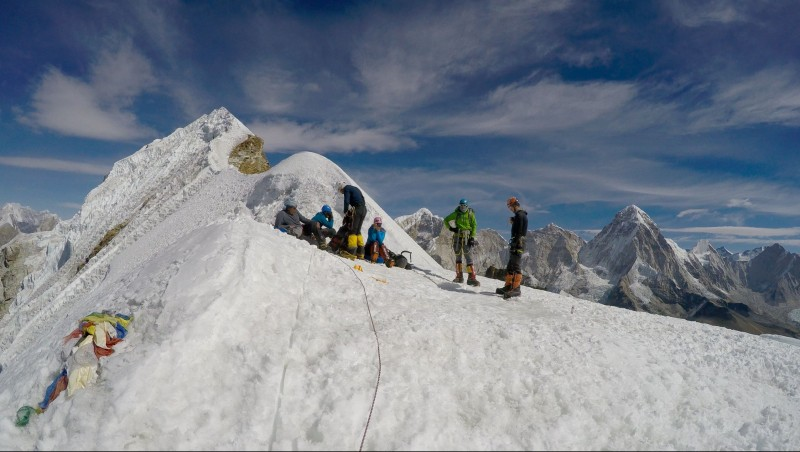 False summit of Lobuche East, circa 19,700 feet AMSL. (GoPro screenshot)