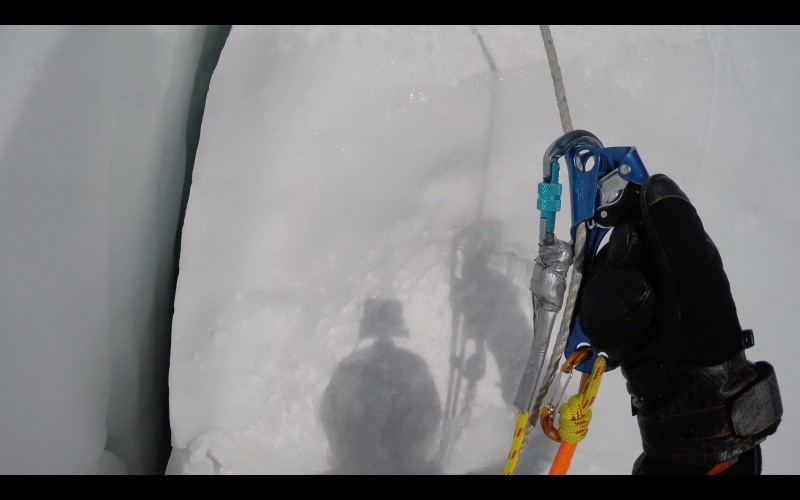 My safety and ascender. Lifesavers. (GoPro screenshot)
