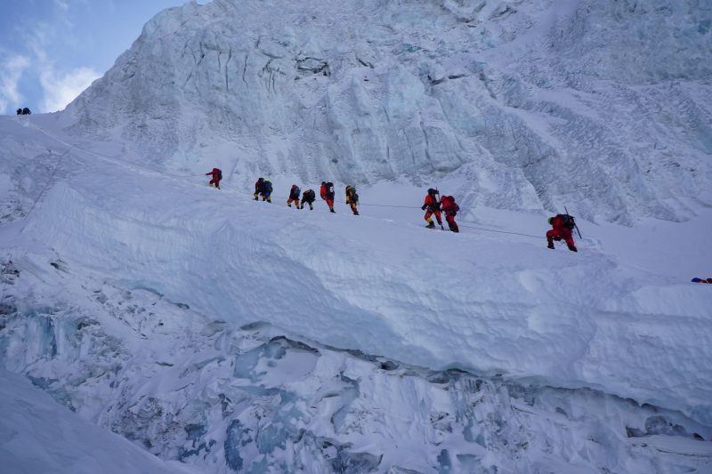Check out the climber third from the right. I believe he is a right leg amputee. That is amazing!