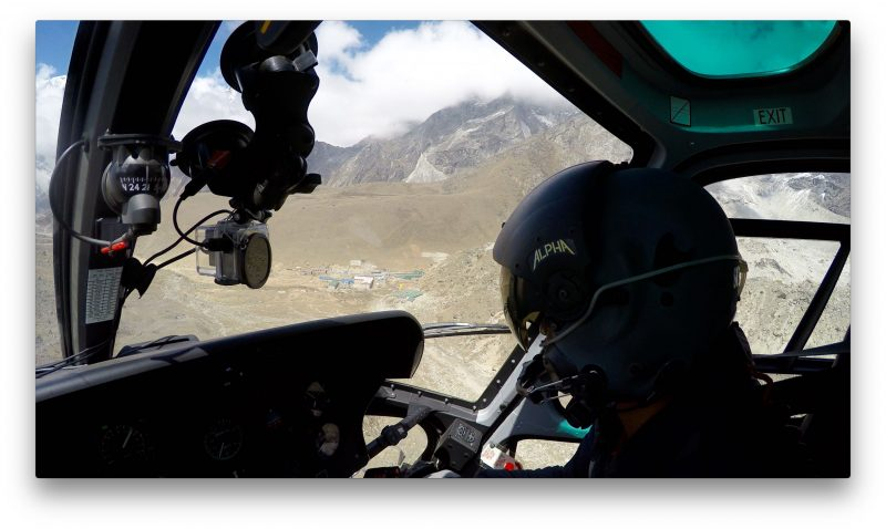 Next comes Lobuche Town. (GoPro Screenshot)