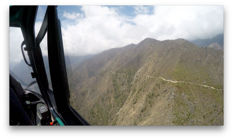 The scenic trail from Namche to Tengboche flies by in an instant. (GoPro Screenshot)