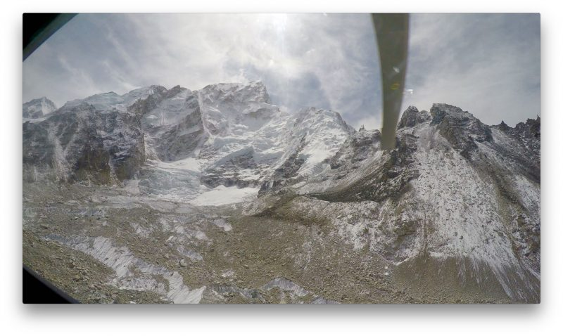 Fearsome face of Nuptse. Oh, how I missed you. (GoPro Screenshot)