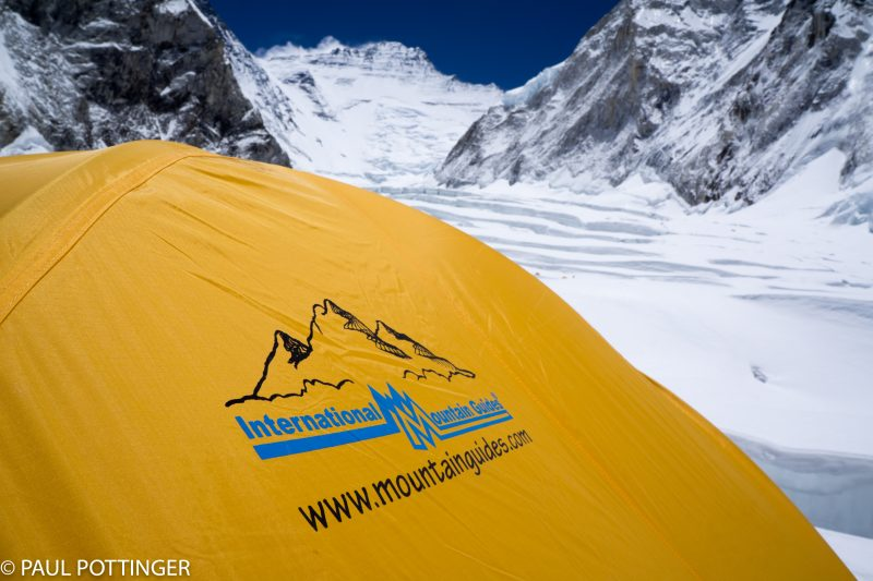 Our tent... Lhotse in the background.