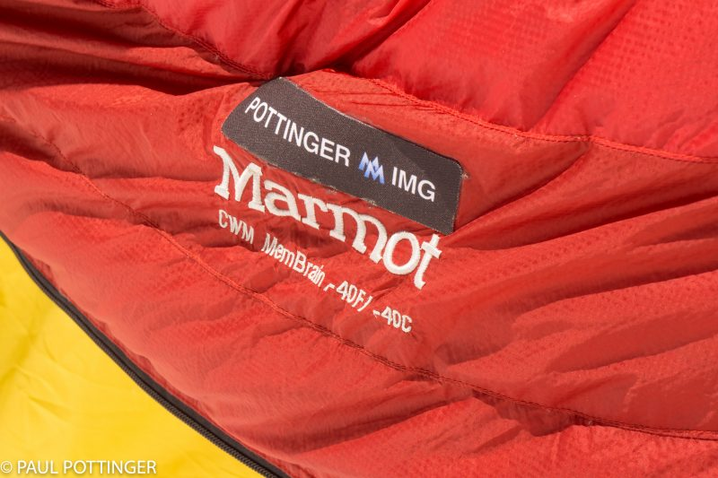 Trusty Cwm MemBrain bag, draped over the tent to drop the temperature inside from sweltering to merely stifling.