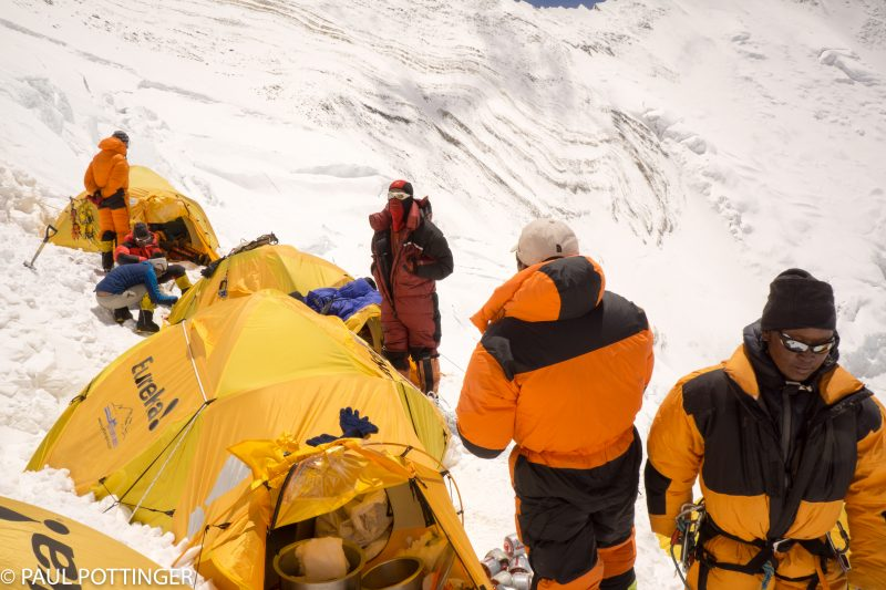 Our amazing Sherpa guides taking care of business at Camp 3.