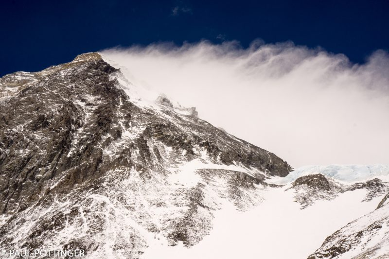 Everest, with snow plume in full bloom.