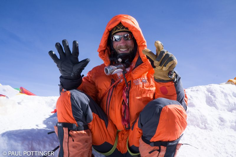 Justin Merle. 7th time on top of Planet Earth. Amazing accomplishment. Amazing guide.