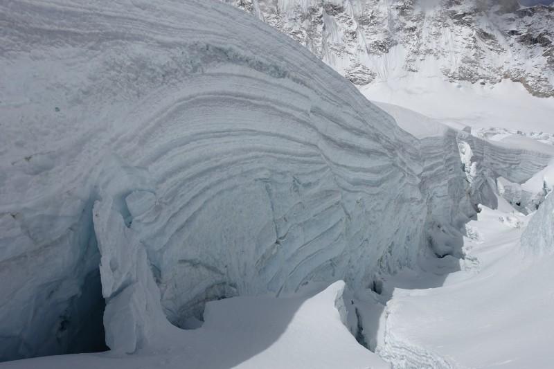 Like a layer cake. A huge, evil, frozen, crazy layer cake. (Photo: Blake Penson)
