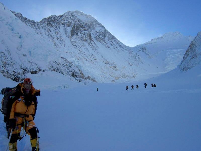 Almost to C1. (Photo: Jangbu Sherpa)