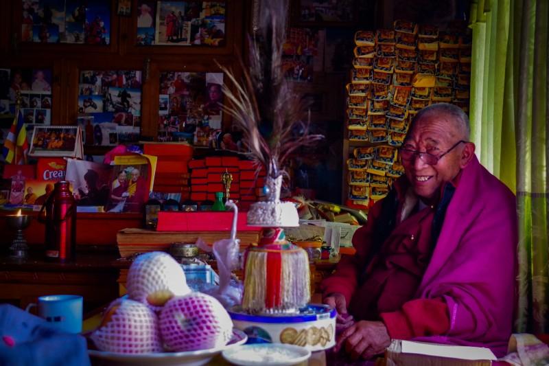 Lama Geshi's smile is infectious. (Photo: Kim Hess)