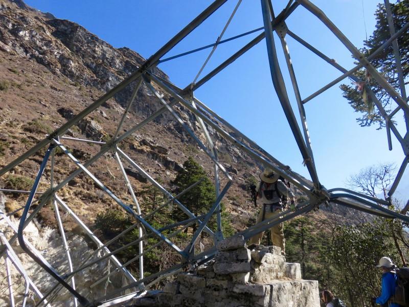 Teresa captures my monkey-business shenanigans on the collapsed bridge. (Photo: Teresa Hagerty)