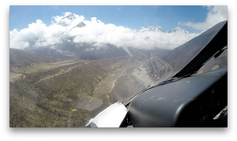 Here's Pheriche... Ama Dablam looming overhead. (GoPro Screenshot)