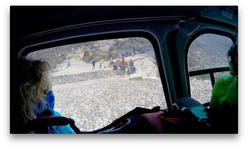 The She-Yeti (Emily) watches the world drop away. (GoPro Screenshot)